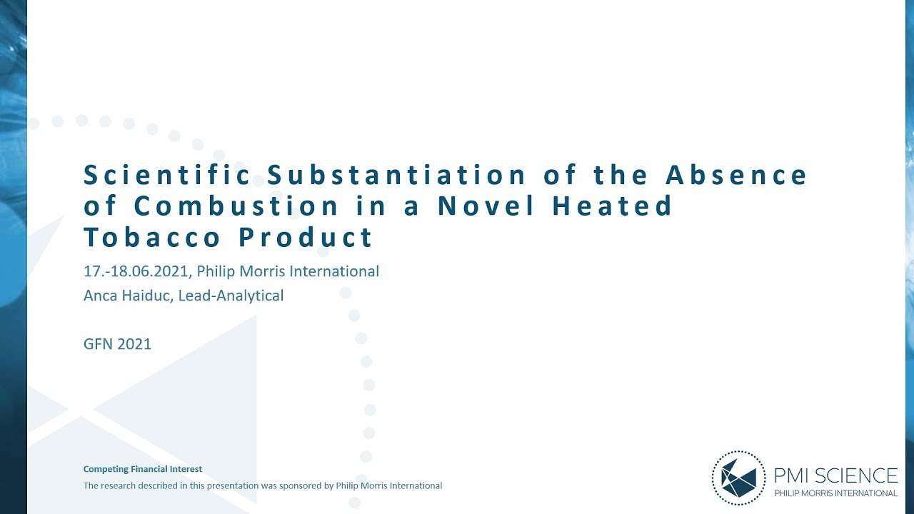 Scientific Substantiation of the Absence of Combustion in a Novel Heated Tobacco Product